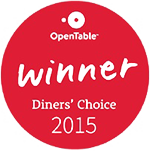Open Table Diners' Choice 2015